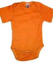 Oranje romper voor babies