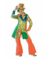 Oranje seventies broek voor dames