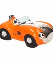 Oranje sportwagen cabrio spaarpot
