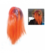 Oranje supporters hairextensions