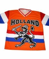 Oranje t-shirt met hollandse leeuw en hollandse vlag 10047888