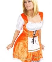 Oranje tiroler jurkje voor dames
