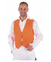 Oranje vestje voor heren 10038648