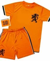 Oranje voetbal tenues voor kinderen