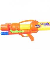Oranje waterpistolen met pomp
