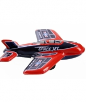 Oud speelgoed vliegtuigje space jet 11 cm
