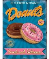 Ouderwetse wandplaat donuts sweet en delicius