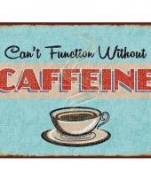 Ouderwetse wandplaat koffie thema 15 x 20