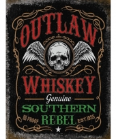 Ouderwetse wandplaat outlaw whiskey