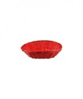 Ovaal rieten fruitmandje rood 20 cm