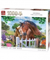 Paarden artikelen puzzel 1000 stukjes