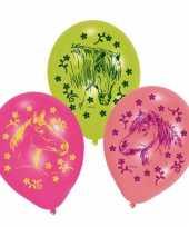 Paarden ballonnen 6 stuks