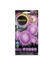 Paarse ballonnen met led lichtjes 23 cm