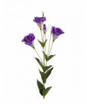 Paarse eustoma kunstbloem 85 cm