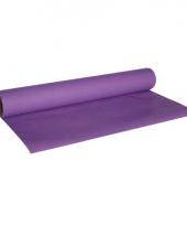Paarse kleur luxe tafelkleed loper