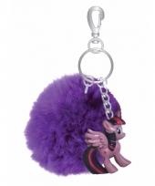 Paarse my little pony sleutelhanger tashanger voor kinderen