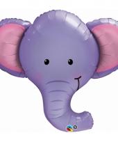 Paarse olifanten folie ballon 90 cm