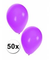 Paarse party ballonnen 50x