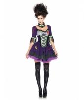 Paarse zombie jurk met strikken