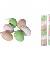 Paaseieren plastic assorti 6 stuks 10081844