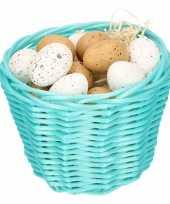 Paasmandje met kwartel eieren 14cm 10104063