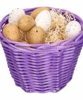 Paasmandje met kwartel eieren 14cm 10104065
