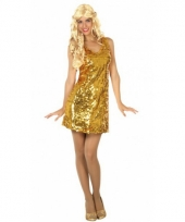 Pailletten jurkje goud voor dames