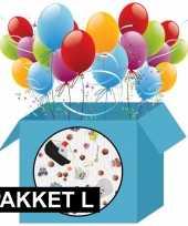 Pakjesavond decoratie pakket pepernoten print klein 10096682