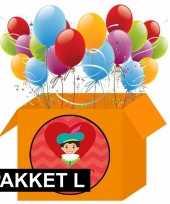Pakjesavond decoratie pakket rood oranje groot