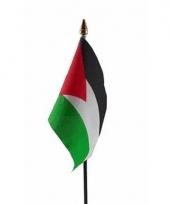 Palestina luxe zwaaivlaggetje polyester