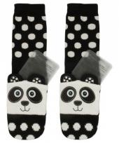 Panda slofjes met gel voor kinderen