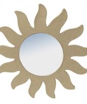 Papier mache zonnetje met spiegel