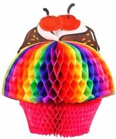 Papieren decoratie cupcake 20 cm