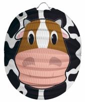 Papieren dieren lampion koe