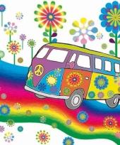 Papieren hippie servetten 20 stuks