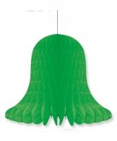 Papieren klok groen 20 cm