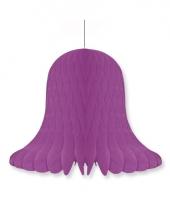Papieren klok violet 30 cm