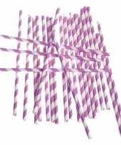 Papieren rietjes lila paars