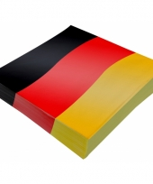 Papieren servetten duitse vlag