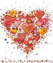 Papieren servetten liefde valentijn 40 stuks