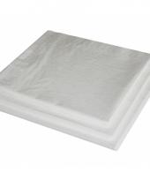 Papieren servetten wit 40x40