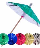 Parasol prikkers metallic 15 stuks