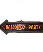 Party bord halloween pijl