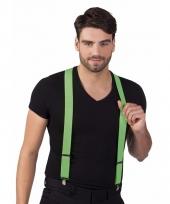 Party bretels in het neon groen