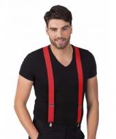 Party bretels in het rood