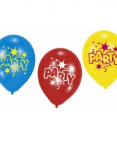Party feest ballonnen 6 stuks