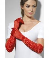 Party handschoenen rood