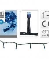 Party verlichting blauw 180 led lampjes