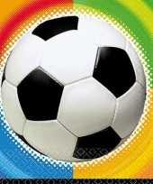 Party voetbal servetten 25 cm