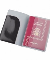 Paspoorthouder zwart 13 cm